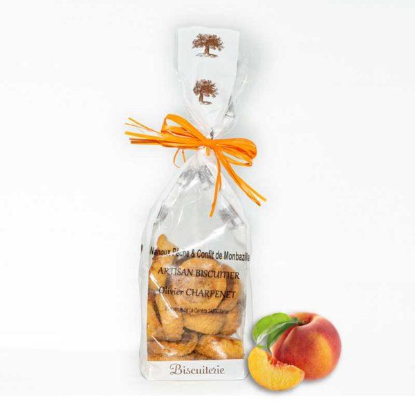 Loucocal biscuiterie Sarlat - biscuit -Nanoux pêche & confit de Monbazillac
