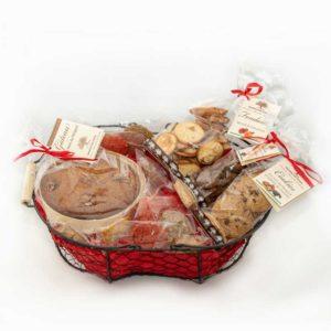 Loucocal biscuiterie Sarlat - biscuit - panier garni aux noix et fruits du Périgord