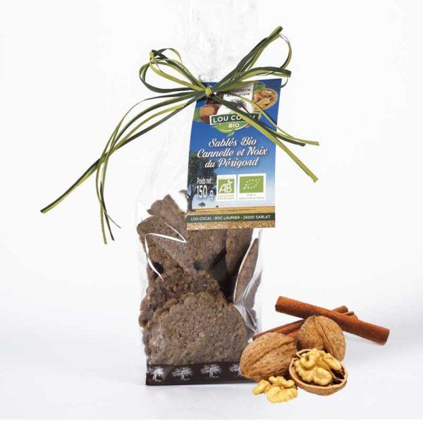 Loucocal biscuiterie Sarlat - biscuit - sablés bio cannelle et noix du périgord