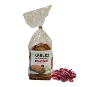 Loucocal biscuiterie Sarlat - biscuit - sablés du périgord cranberry