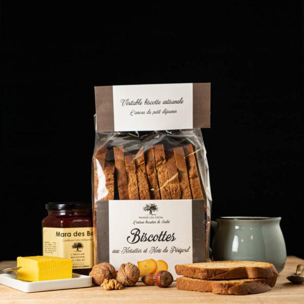 Loucocal biscuiterie Sarlat - biscottes - biscottes aux noisettes et noix du périgord